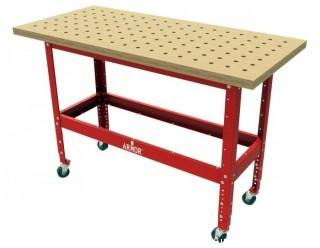 Armor-Tool BBTKIT-5425 Solid Maple Butcher Block dog Table with Steel Stand and Casters (Retail $399.00)