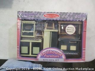 Doll House Furniture Kitchen Set