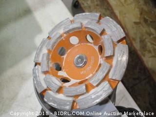 Ryobi barrel grip angle grinder