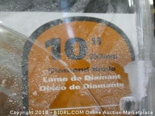 Ridgid glass tile diamond blade