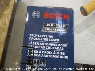 Bosch self-leveling crossline laser