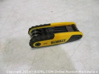 DeWalt folding locking hex key
