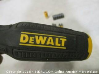 DeWalt screwdriver and bits