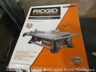 Ridgid 7 in Table Top Wet Tile Saw
