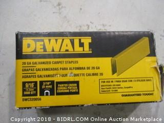 DeWalt Galvanized Carpet Staples