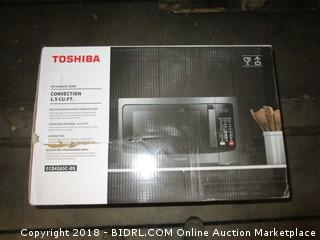 Toshiba EC042A5C-BS Convection Microwave Oven with Convection Function and Smart Sensor, 1.5 Cu.ft,  1000W, Black Stainless Steel (Retail $198.00)