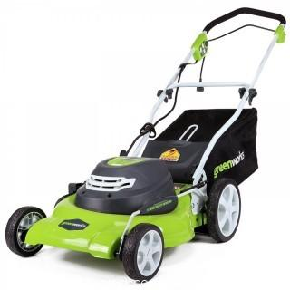 Greenworks 20-Inch 12 Amp Corded Lawn Mower (Retail $123.00)