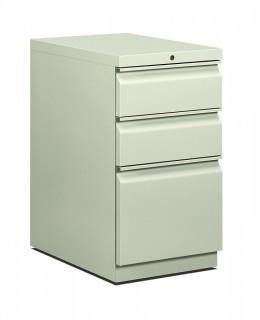 HON 33723RQ Efficiencies Mobile Pedestal File - Storage Pedestal with 1 File and 2 Box Drawers 22-7/8-Inch , Light Gray (Retail $313.00)