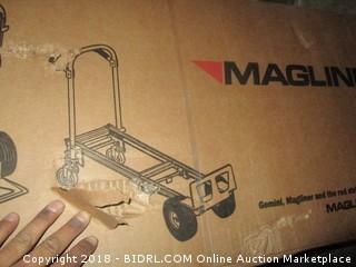 "Magline GMK81UA4 Gemini Sr Convertible Hand Truck, Pneumatic Wheels, 500 lbs Load Capacity, 61"" Height, 55-3/4"" Length x 21"" Width (Retail $295.00)"