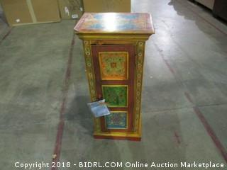 World Market Floral Painted Cabinet