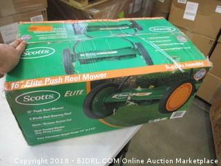 Scotts Elite push reel mower