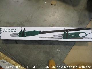 Sunjoe pole saw + chain saw