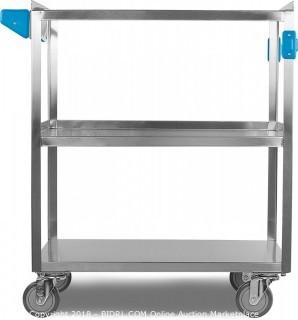 "Carlisle UC5031827 Stainless Steel 18-10 Utility Cart, 500-lb. Capacity, 36"" High x 18"" Wide x 27"" Long, 3 Shelf (Retail $483.00)"