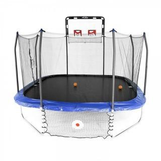 Skywalker Trampolines Jump/Dunk/Kick Trampoline - 14' Square Jump, Dunk & Kick Sports Arena, Blue (Retail $464.00)
