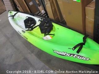 Ocean Kayak 12-Feet Malibu Two Tandem Sit-On-Top Recreational Kayak (Retail $699.00) - Bottom Side Has A Dented Spot