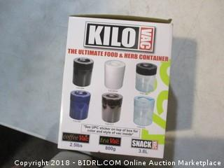 Kilo Vac food/herb container
