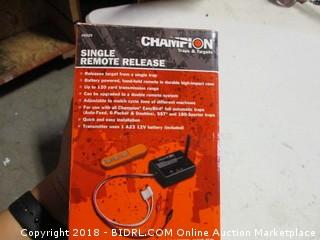 Champion Single Remote Release
