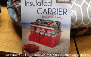 Insulated Carrier + Food Containers