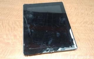 iPad No Power, No Cords, Cracked Screen