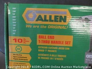Ball End T-Thru Handle Set