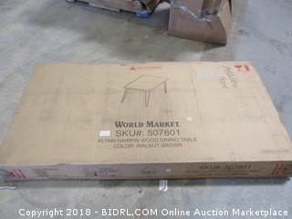 World Market Flynn Hairpin Wood Dining Table