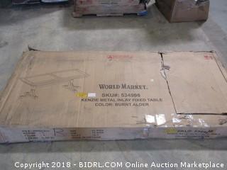 World Market Kenzie Metal Inlay Fixed table