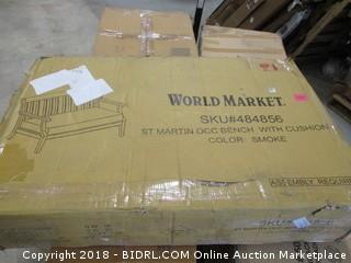 World Market St Martin OCC French with Cushion