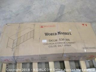 World Market chevron Storage Cabinet