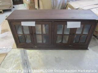Cabinet with doors and shelves