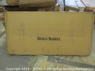 World Market Deep Seat Bench Curshion Natural