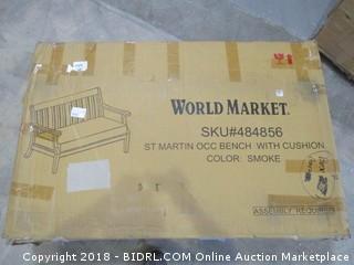 World Market St martin OCC Bench With Cushion