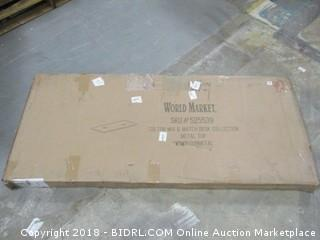 World Market Colton Mix & Match Collection Metal top