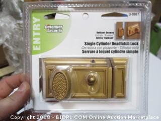 Single Cylinder Deadlatch Lock