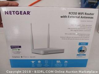 Netgear N300 Wifi Router with External Antennas