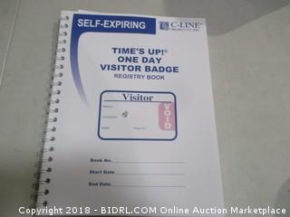 Self-Expiring Time's Up One Day Visitor Badge