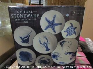 Nautical Stoneware 7 Pieces
