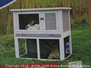 Rabbit Hutch with Sloped Roof (M), Gray/White (Retail $120.00)