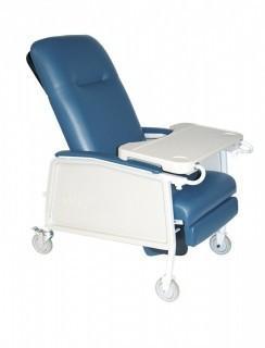 d574ew-br 3 Position Heavy Duty Bariatric Geri Chair Recliner Blue Ridge (Retail $600.00)