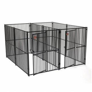 Dog Kennel - Lucky Dog Side By Side Box Kennel - This Welded Animal Enclosure is Perfect For Medium to Large Dog Breeds (Retail $1,487.00)