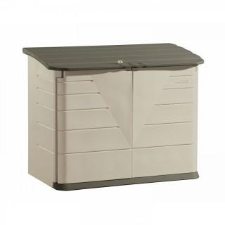 Rubbermaid Outdoor Horizontal Storage Shed, Large, 32 cu. ft., Olive/Sandstone (Retail $292.00)