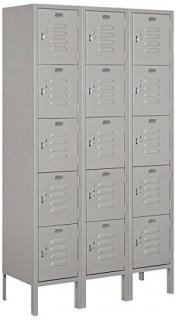 Salsbury Industries 65352GY-U Five Tier Box Style 36-Inch Wide 5-Feet High 12-Inch Deep Unassembled Standard Metal Locker, Gray (Retail $617.00)