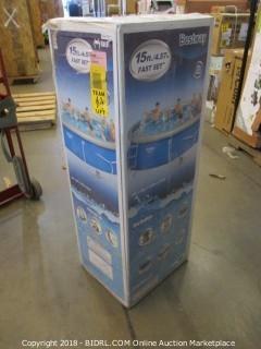Bestway 57126US Fast Pool Set, 15-Feet by 42-Inch (Retail $234.00)