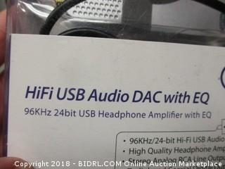 Hifi USB Audio DAC with EQ Headphone