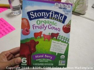 Stonyfield organic fruit pouches