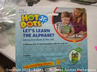 Interactive alphabet book/pen set