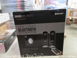 Sharper Image LED Light Bluetooth Tri Speaker System