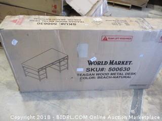 World Market Teagan Wood Metal Desk