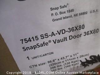 SNAPSAFE Aux Vault Door 36x80- Safe Room (Retail $1,200.00)