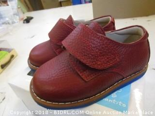 E-boy with velco Leather Red  US 6