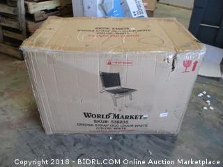 World Market Girona Strap OCC Chair White